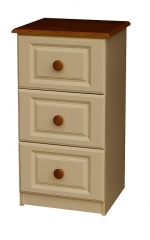 Annagh Ivory 3 Deep Drawer Locker