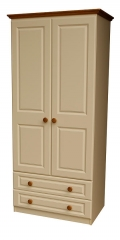 Annagh Ivory 2 Door 2 Drawer Wardrobe