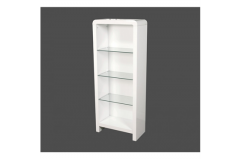 Atlantis Clarus White Bookcase