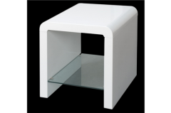 Atlantis Clarus White End Table