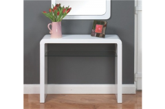 Atlantis Clarus White Console Table
