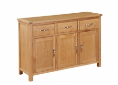 Hartford City Oak 3 Door Sideboard