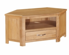 Hartford City Oak Corner TV Unit